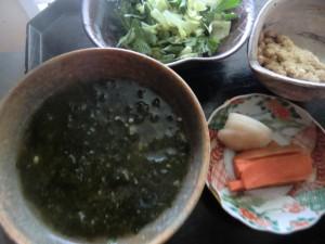 15.3.30アオサ味噌汁